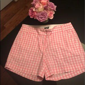 JCrew pink & white cotton shorts size 0
